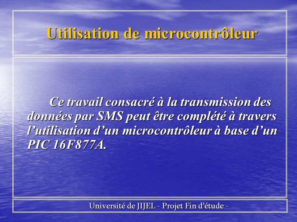 Utilisation de microcontrôleur