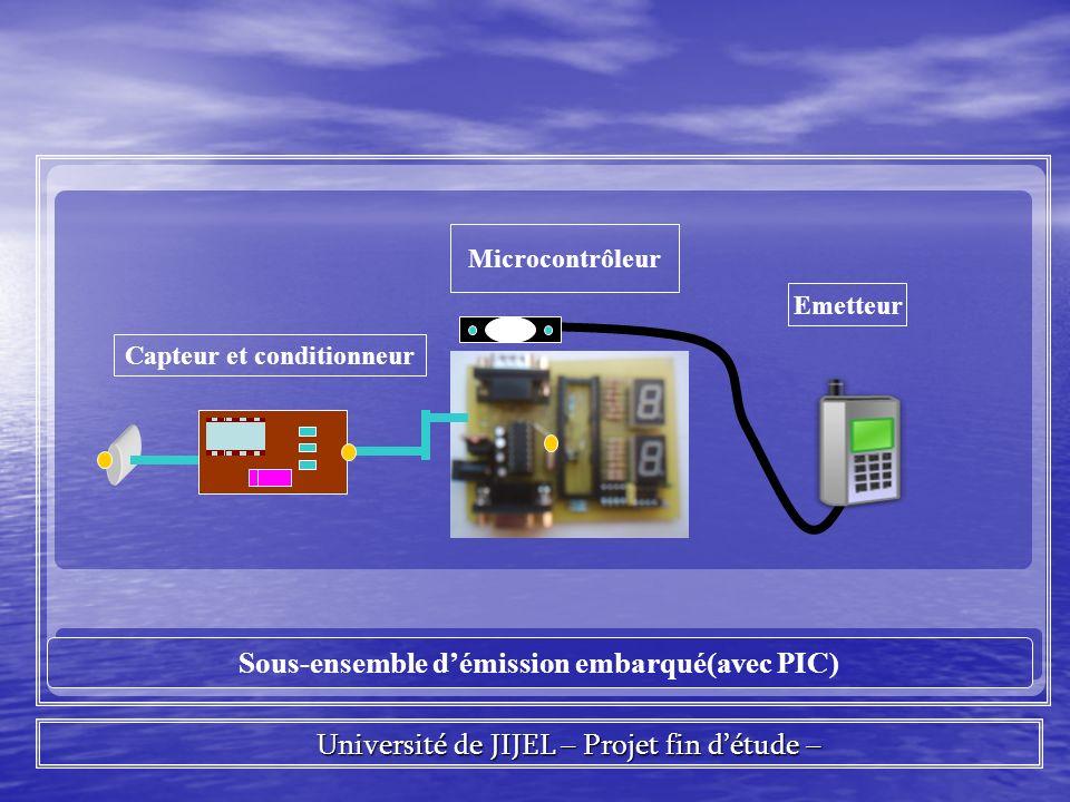 Capteur et conditionneur Sous-ensemble d'émission embarqué(avec PIC)