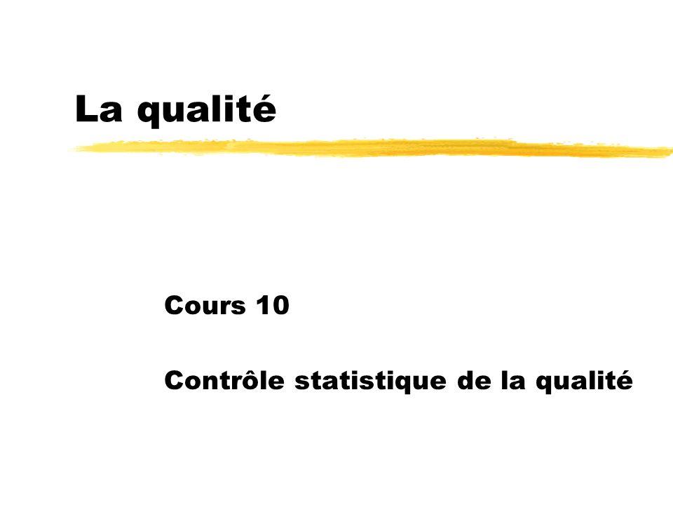 Cours 10 Contrôle statistique de la qualité