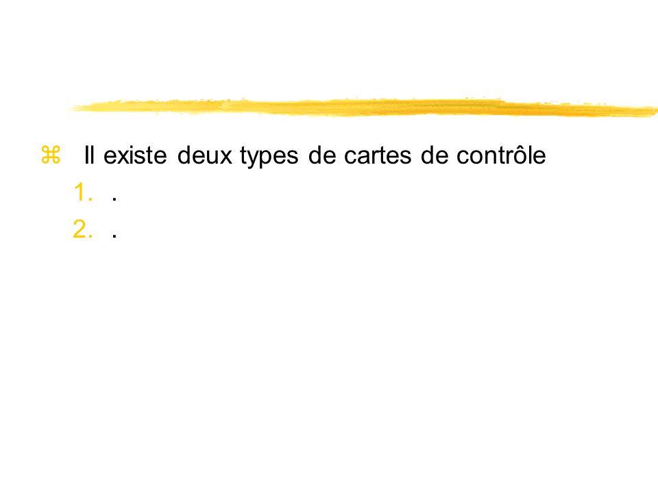 Il existe deux types de cartes de contrôle