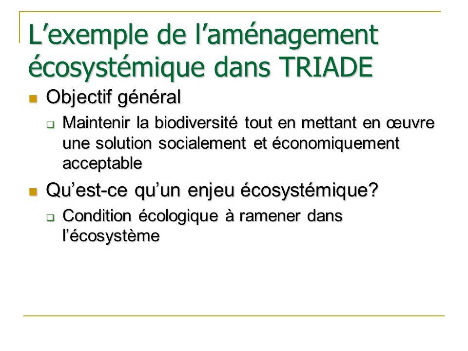 L'exemple de l'aménagement écosystémique dans TRIADE