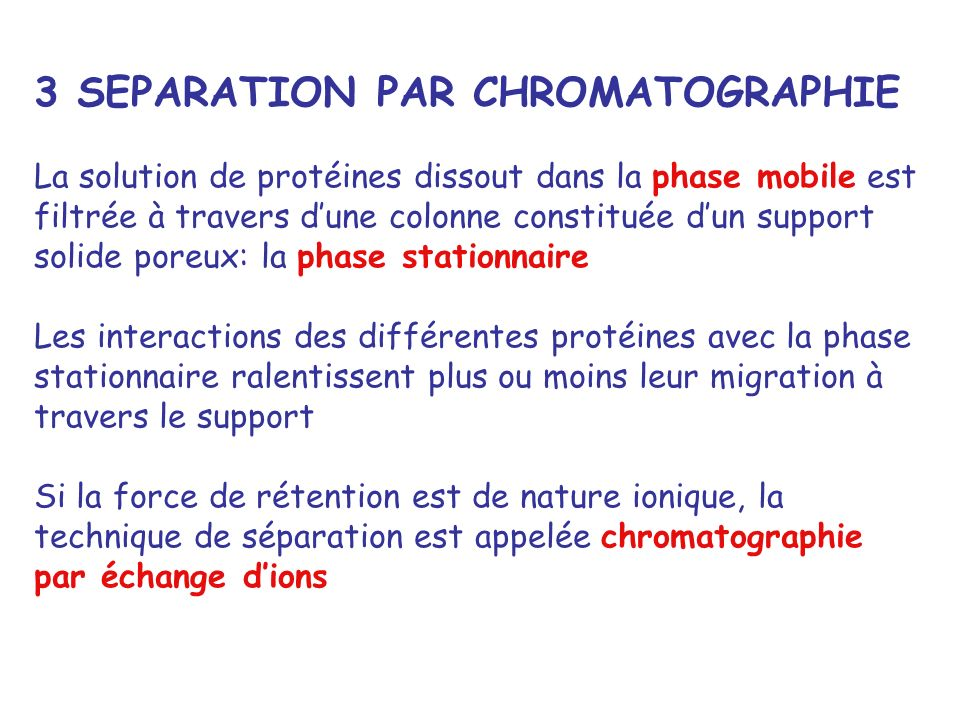 3 SEPARATION PAR CHROMATOGRAPHIE