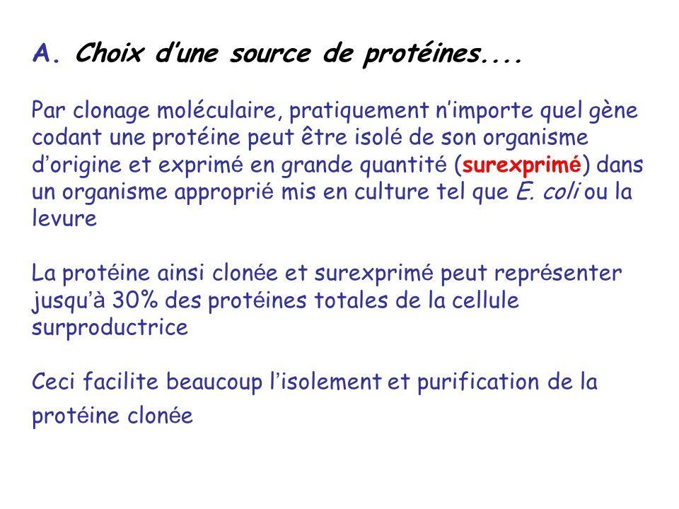 A. Choix d'une source de protéines....