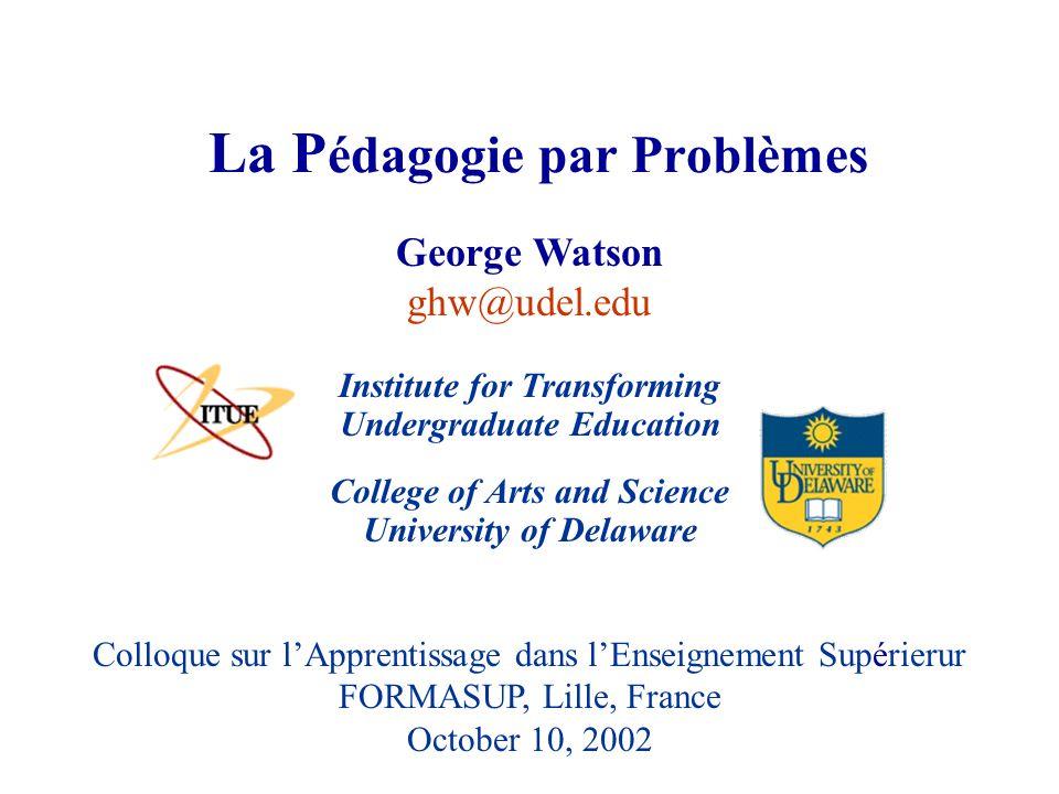La Pédagogie par Problèmes