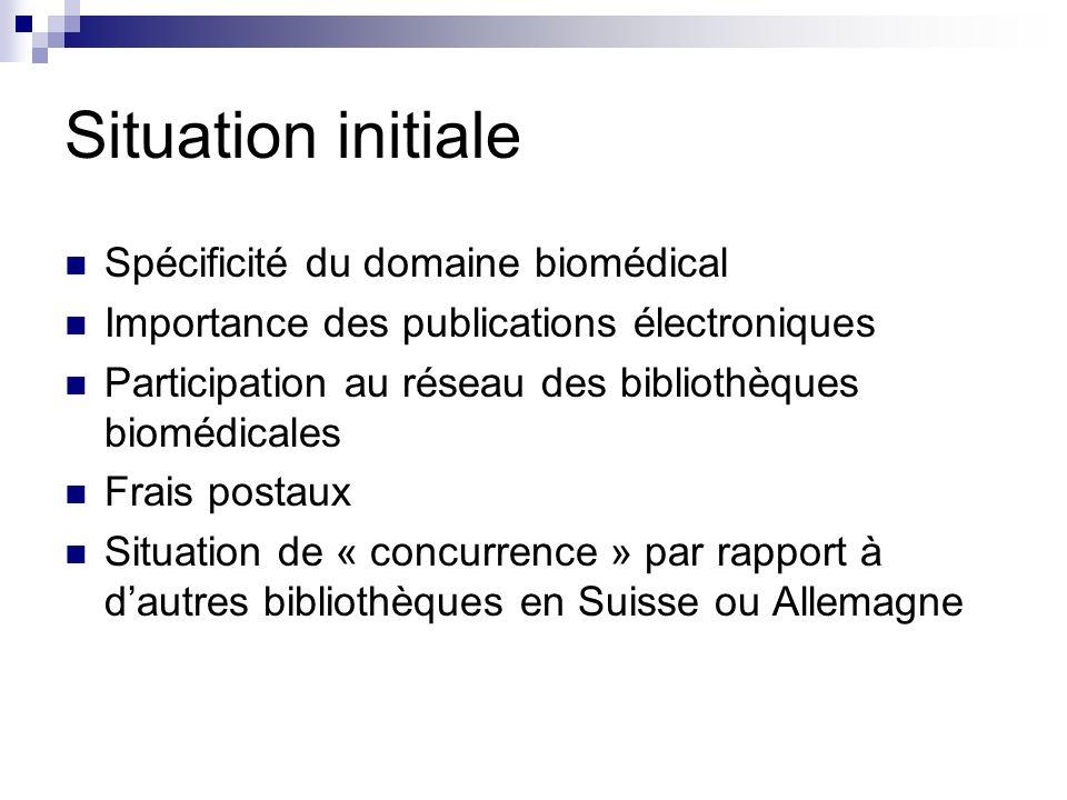 Situation initiale Spécificité du domaine biomédical