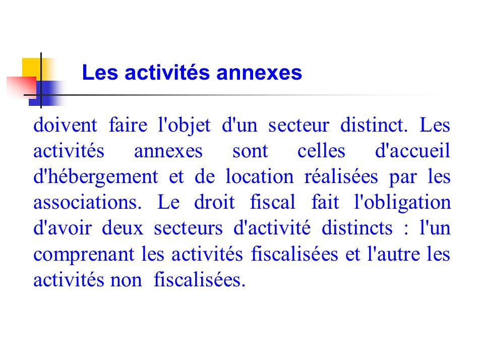 Les activités annexes