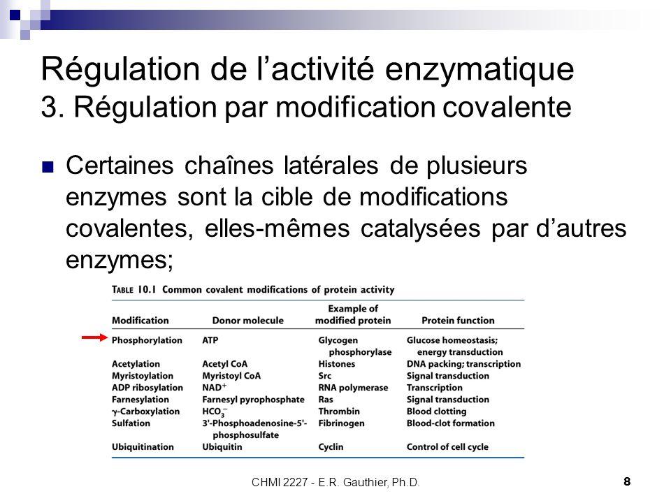 Régulation de l'activité enzymatique 3
