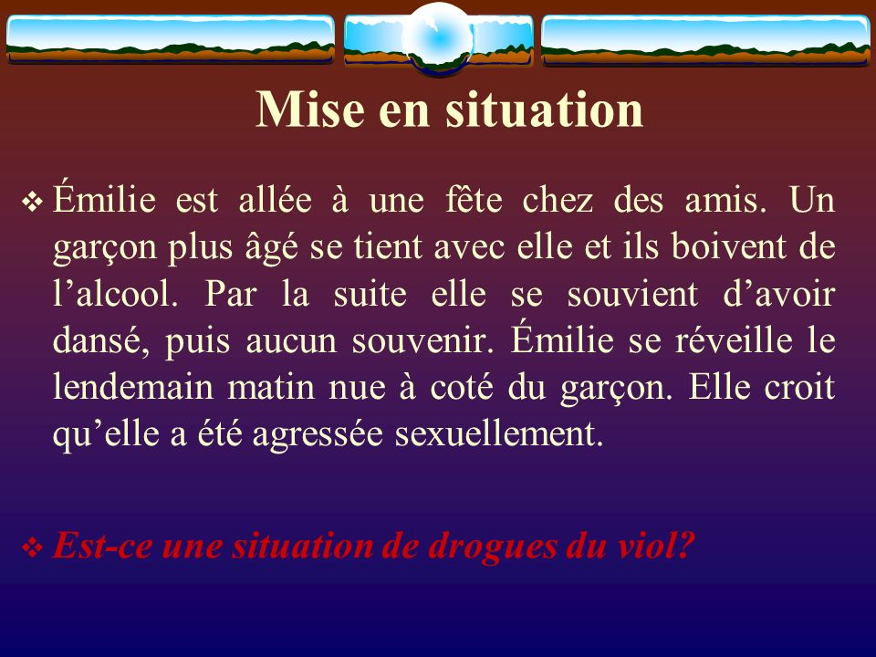 Mise en situation