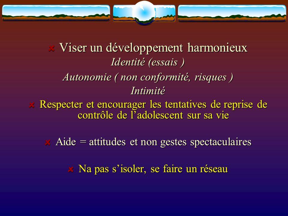 Viser un développement harmonieux