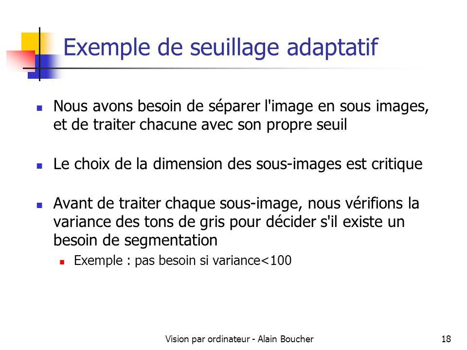 Exemple de seuillage adaptatif