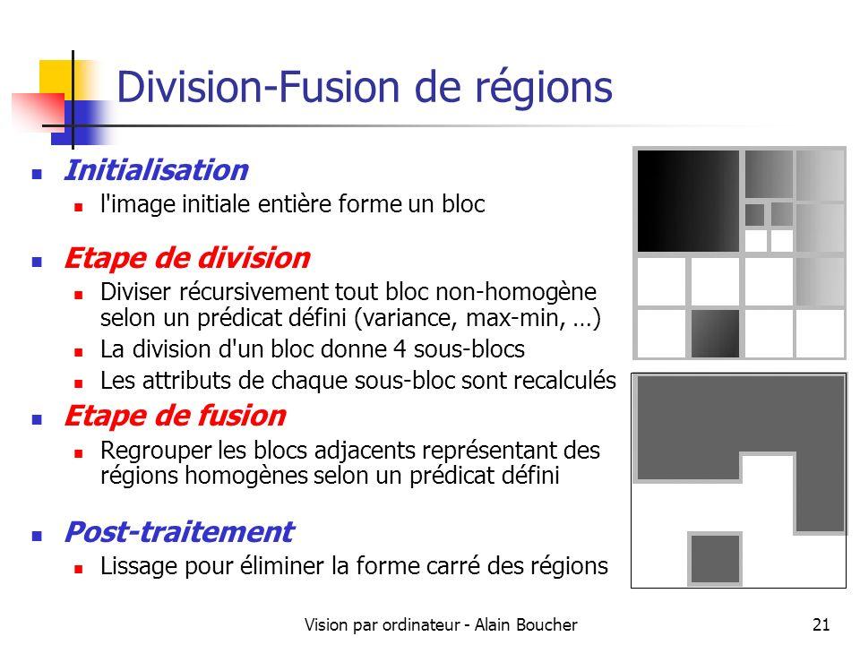 Division-Fusion de régions