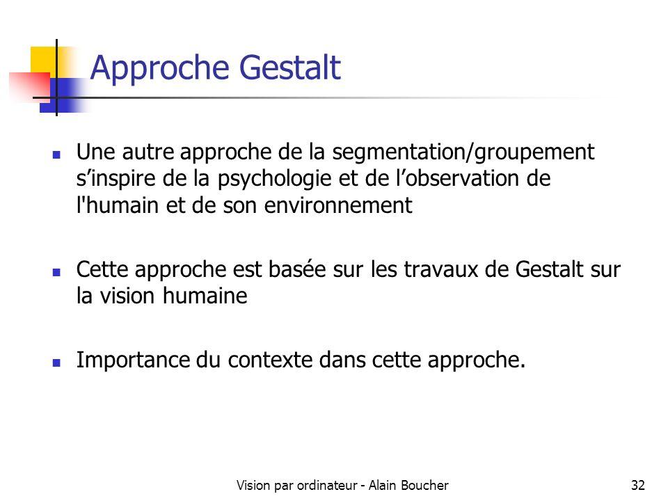 Vision par ordinateur - Alain Boucher