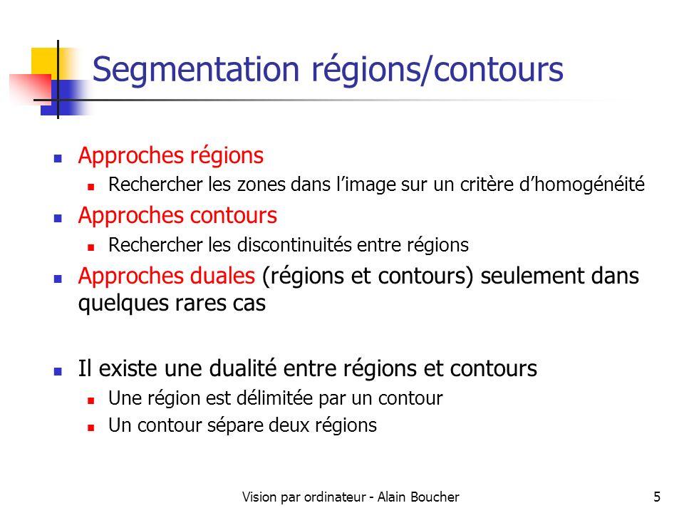 Segmentation régions/contours