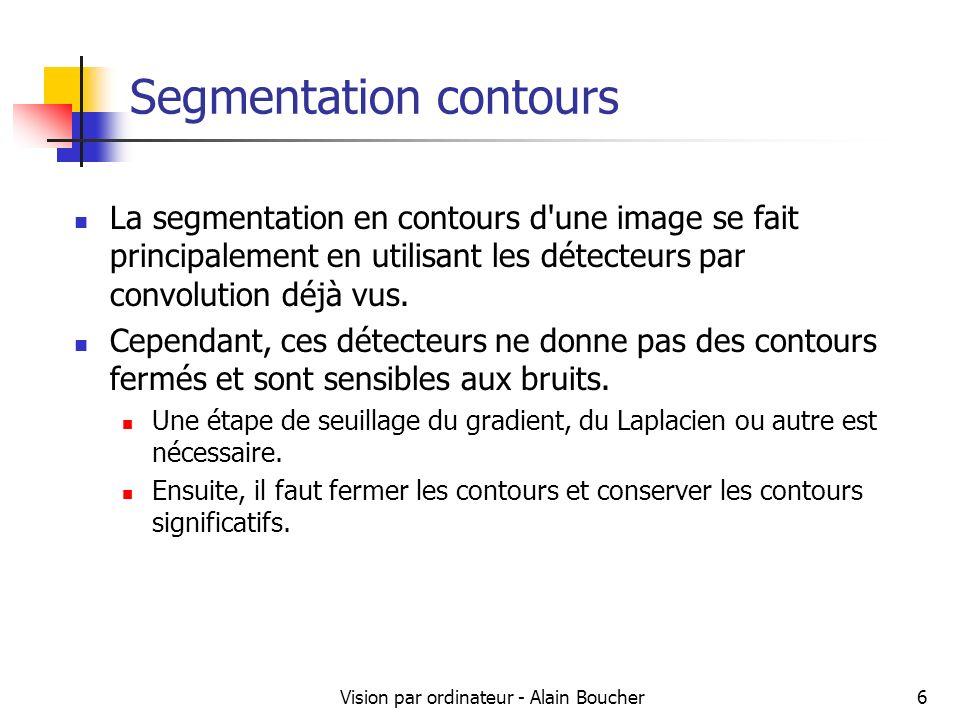 Segmentation contours