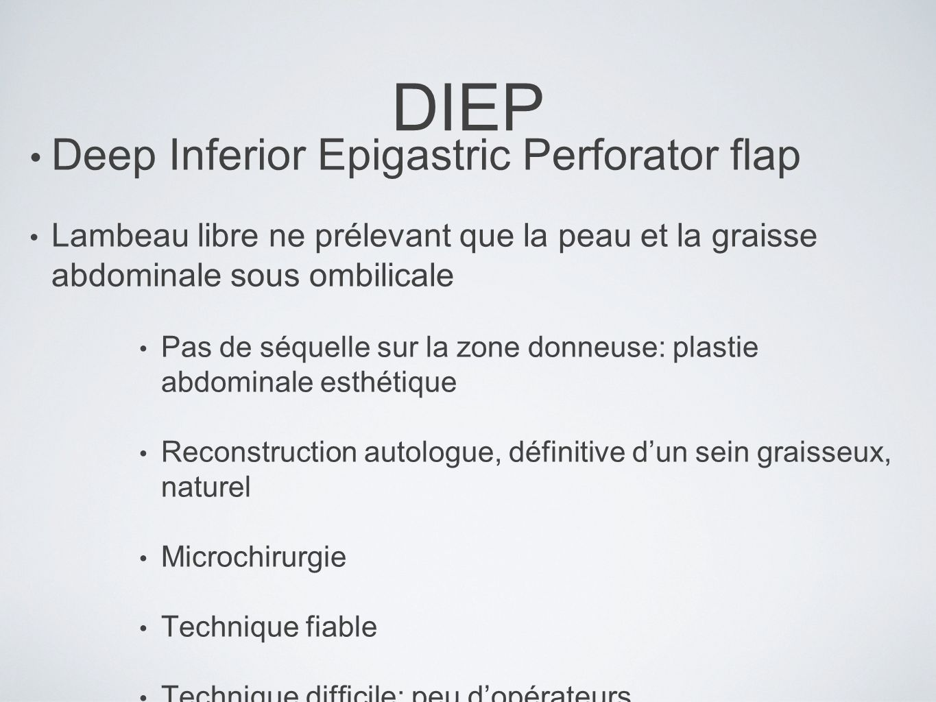 DIEP Deep Inferior Epigastric Perforator flap