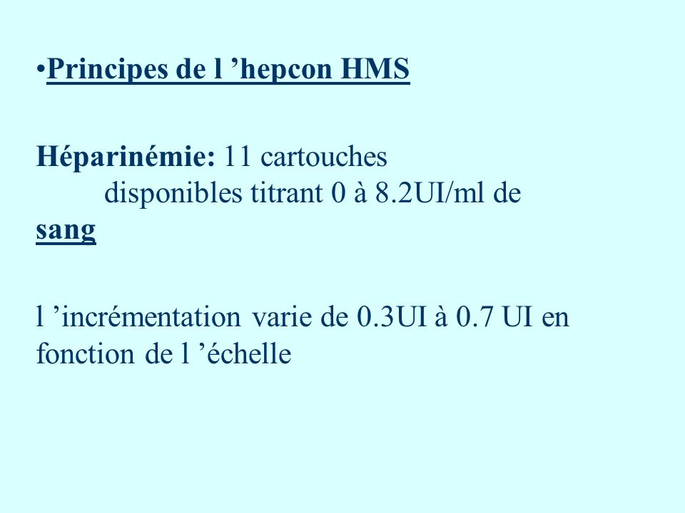 Principes de l 'hepcon HMS