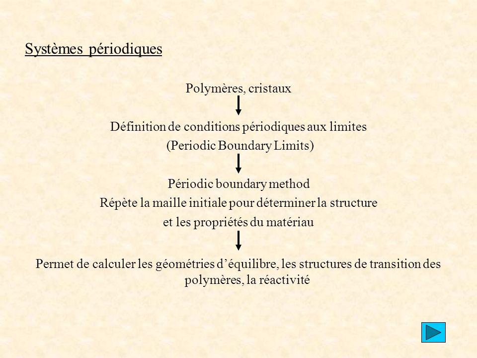 Systèmes périodiques Polymères, cristaux