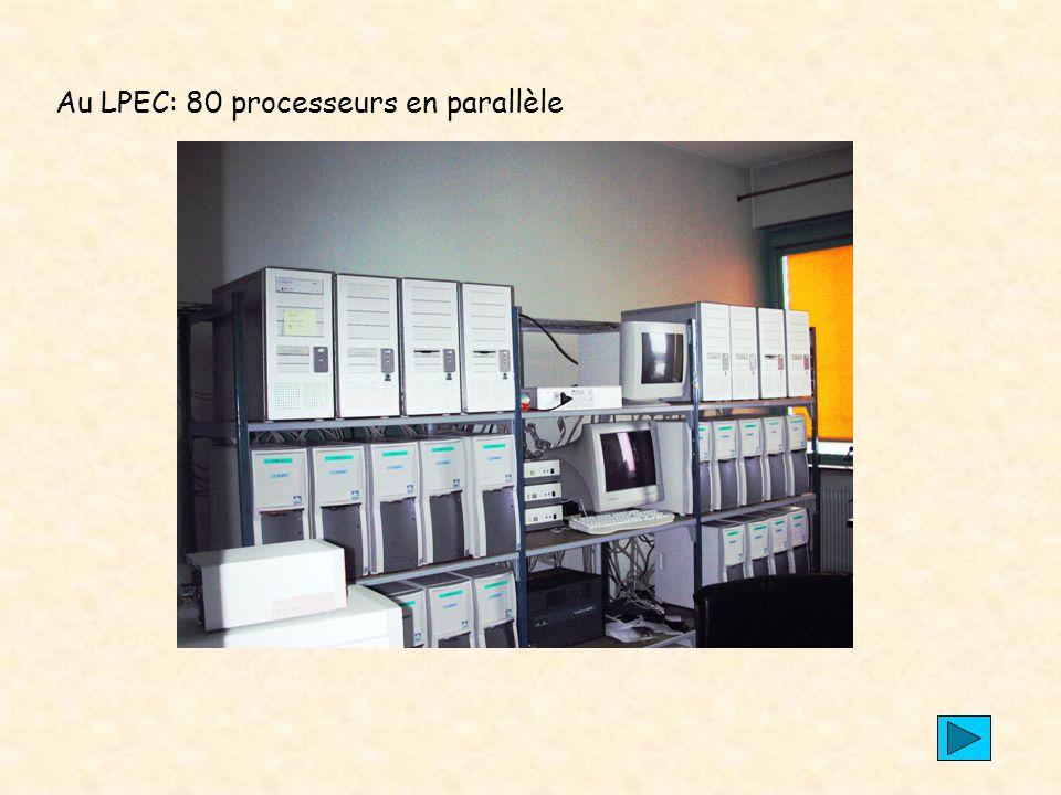 Au LPEC: 80 processeurs en parallèle