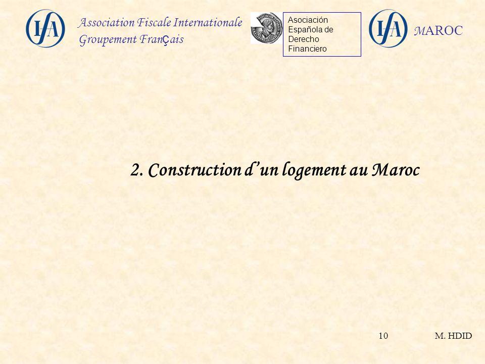 2. Construction d'un logement au Maroc