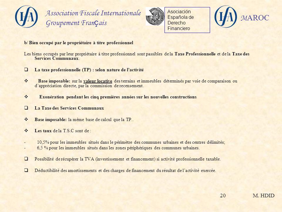 Fiscalit immobili re applicable aux non r sidents au maroc ppt video online t l charger - Exoneration taxe habitation si non imposable ...