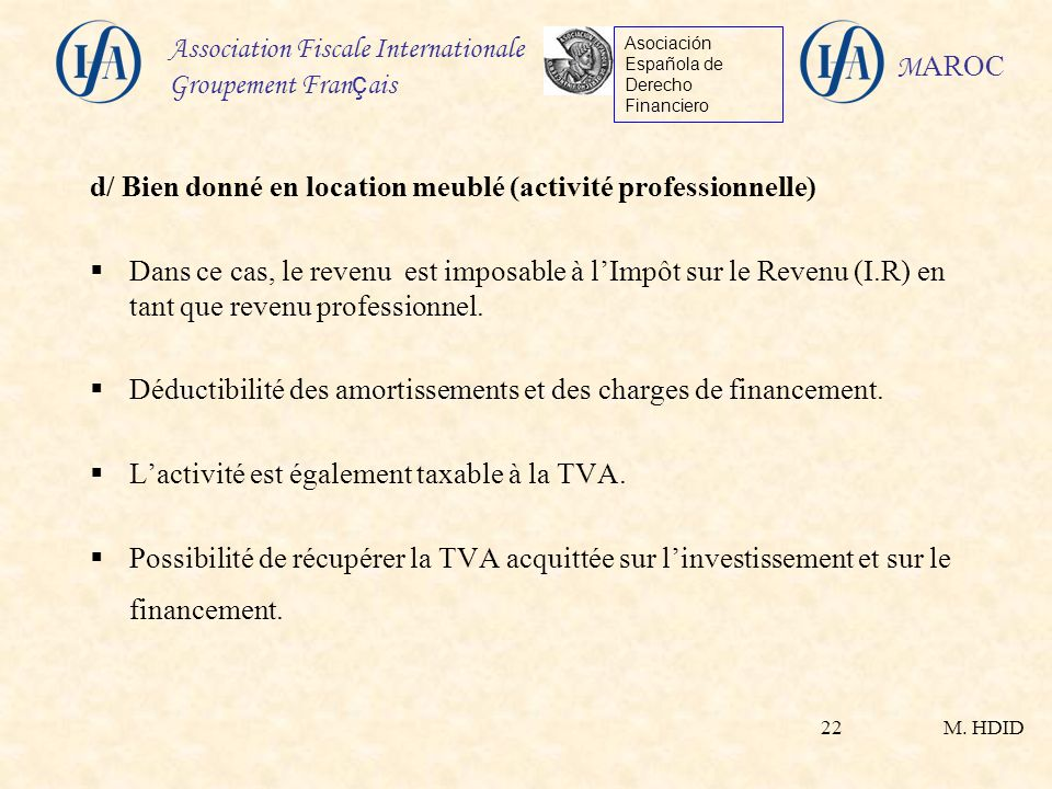 Fiscalit immobili re applicable aux non r sidents au - Fiscalite location meublee non professionnelle ...