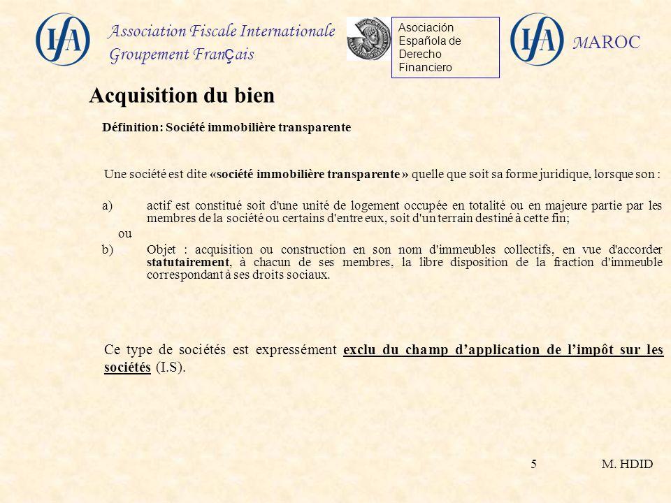 Définition: Société immobilière transparente