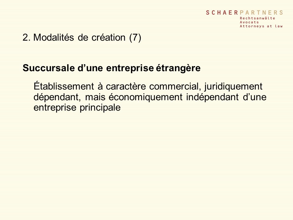 2. Modalités de création (7)