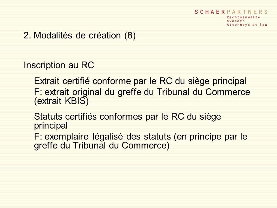 2. Modalités de création (8)