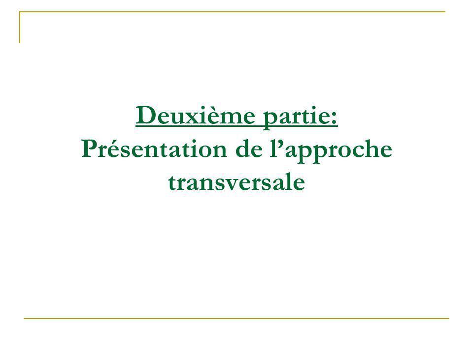 Deuxième partie: Présentation de l'approche transversale