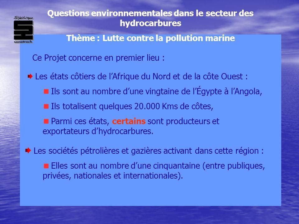 Questions environnementales dans le secteur des hydrocarbures