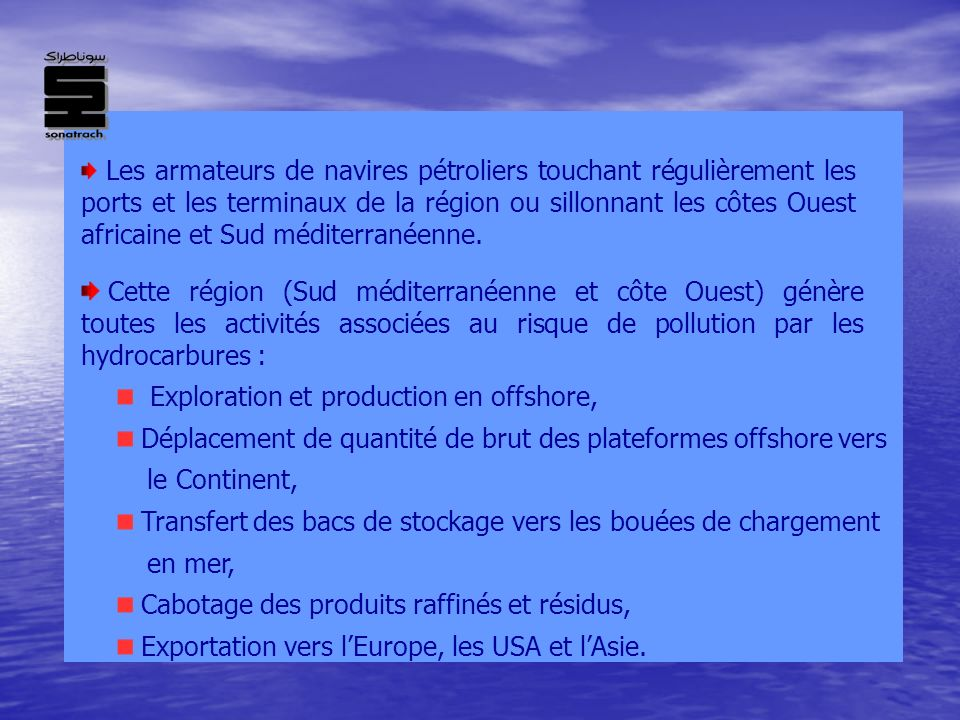 Exploration et production en offshore,