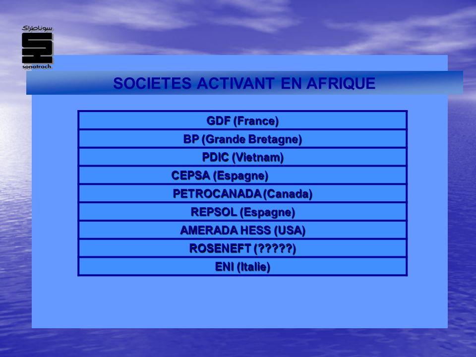 SOCIETES ACTIVANT EN AFRIQUE