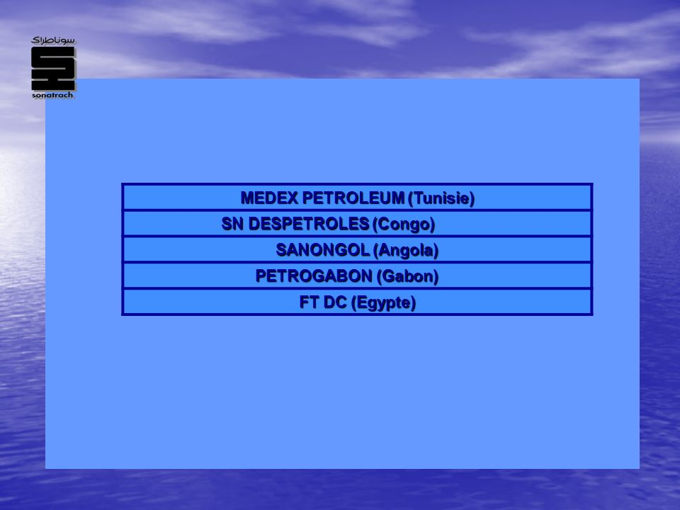 MEDEX PETROLEUM (Tunisie) SN DESPETROLES (Congo)