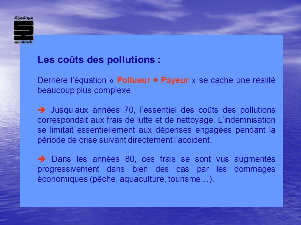 Les coûts des pollutions :