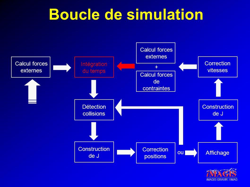 Boucle de simulation Calcul forces externes Calcul forces externes