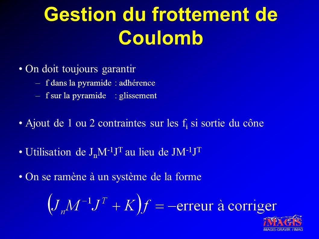 Gestion du frottement de Coulomb