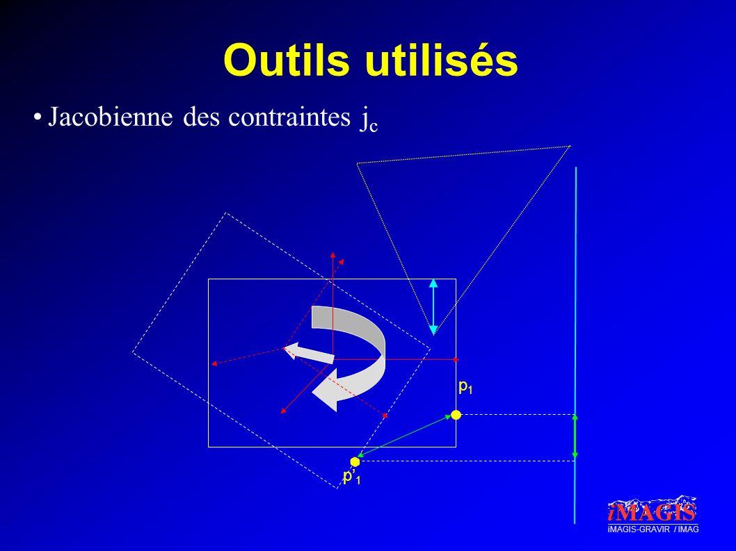 Outils utilisés Jacobienne des contraintes jc p1 p'1