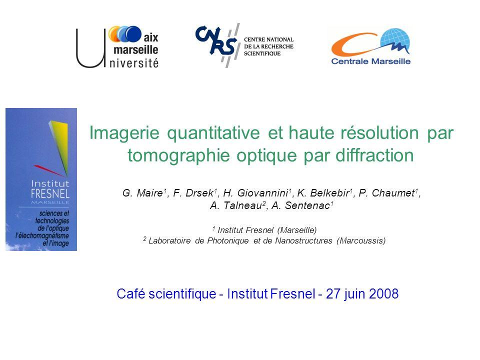 Imagerie quantitative et haute résolution par tomographie optique par diffraction