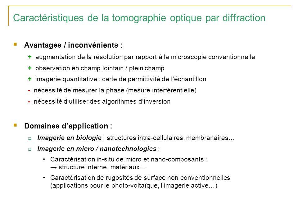 Caractéristiques de la tomographie optique par diffraction