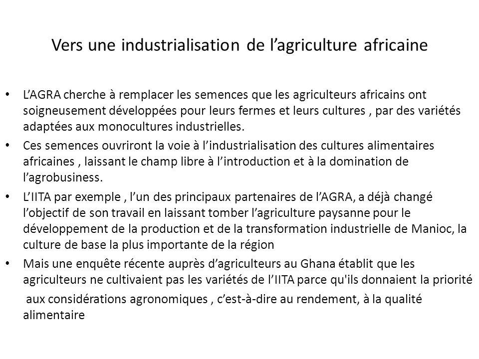 Vers une industrialisation de l'agriculture africaine