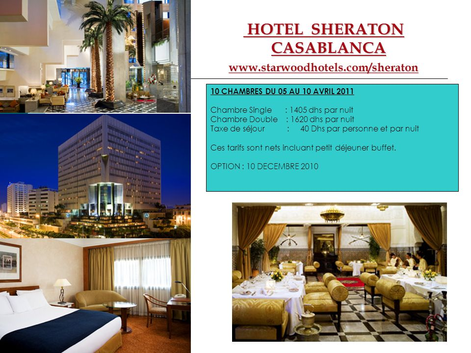 HOTEL SHERATON CASABLANCA