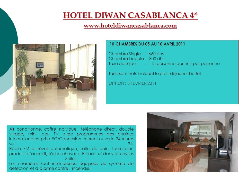 HOTEL DIWAN CASABLANCA 4*