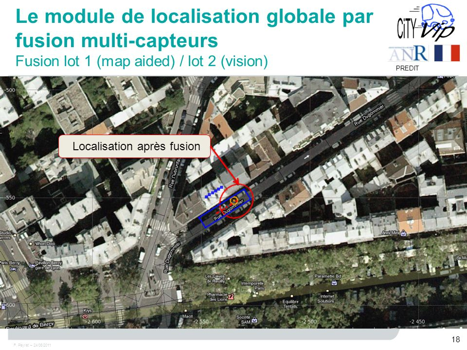 Le module de localisation globale par fusion multi-capteurs Fusion lot 1 (map aided) / lot 2 (vision)