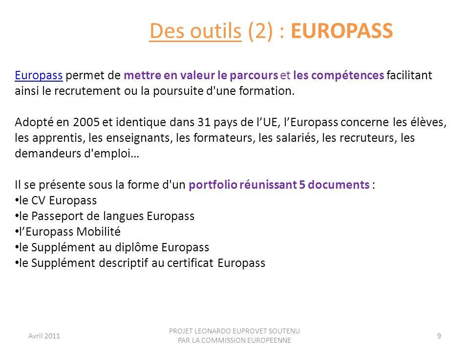 Des outils (2) : EUROPASS