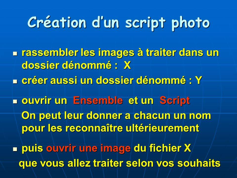 Création d'un script photo