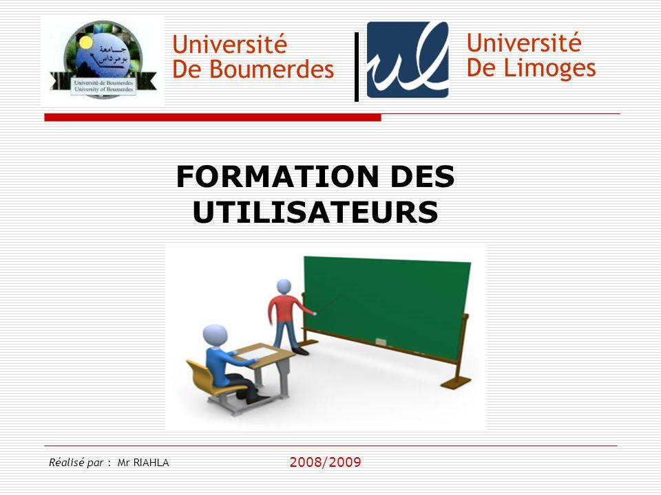 FORMATION DES UTILISATEURS