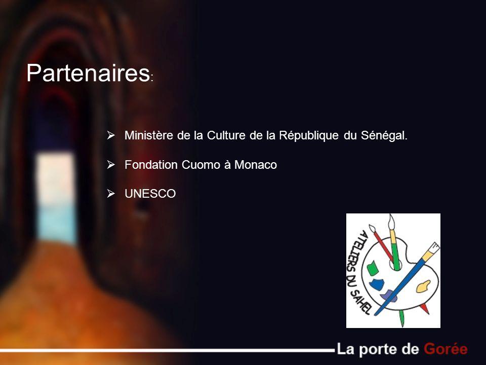 Partenaires: Ministère de la Culture de la République du Sénégal.