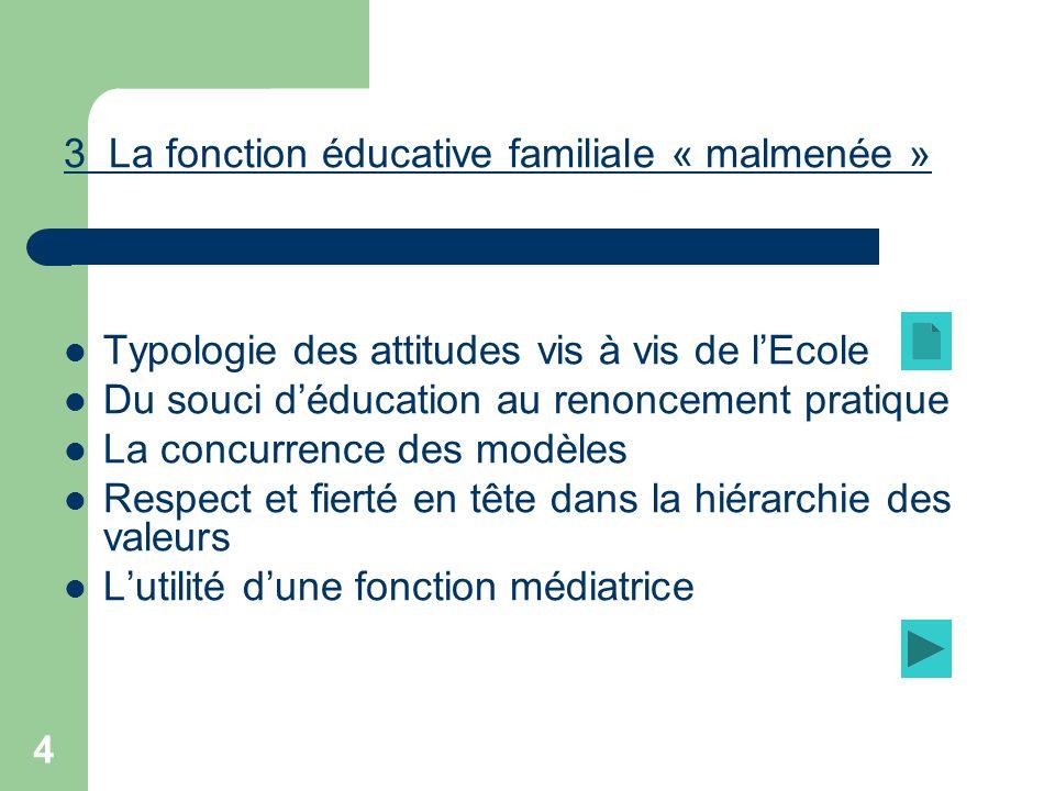 3 La fonction éducative familiale « malmenée »