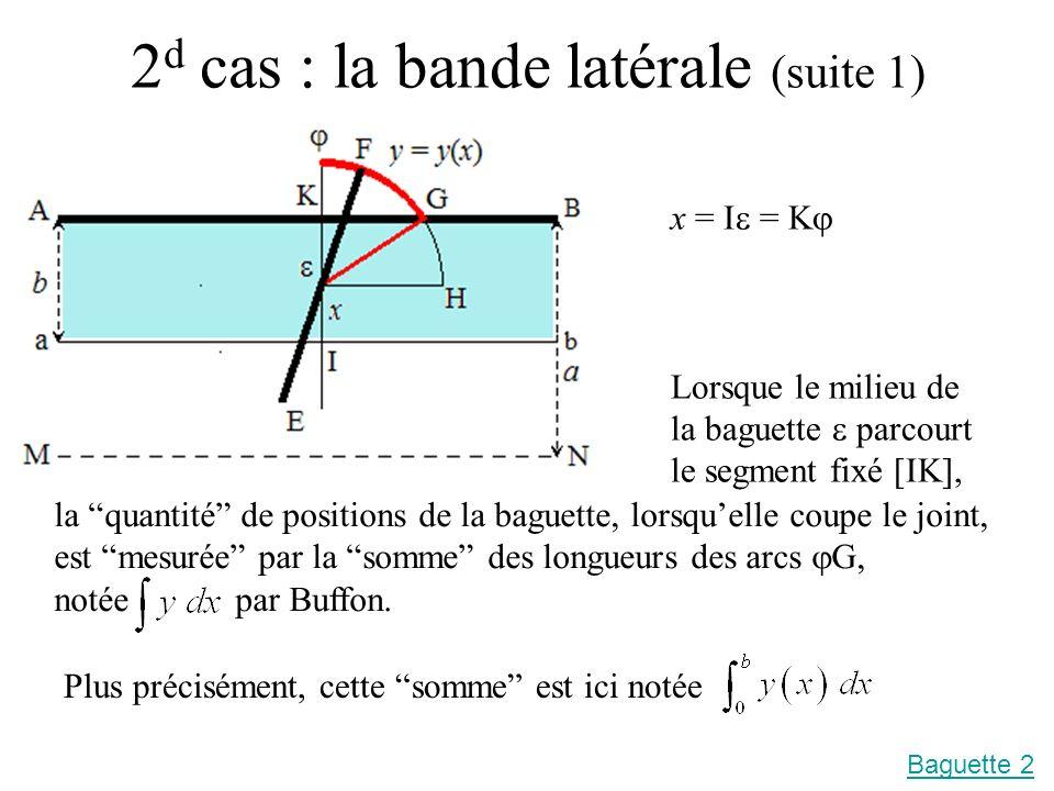 2d cas : la bande latérale (suite 1)