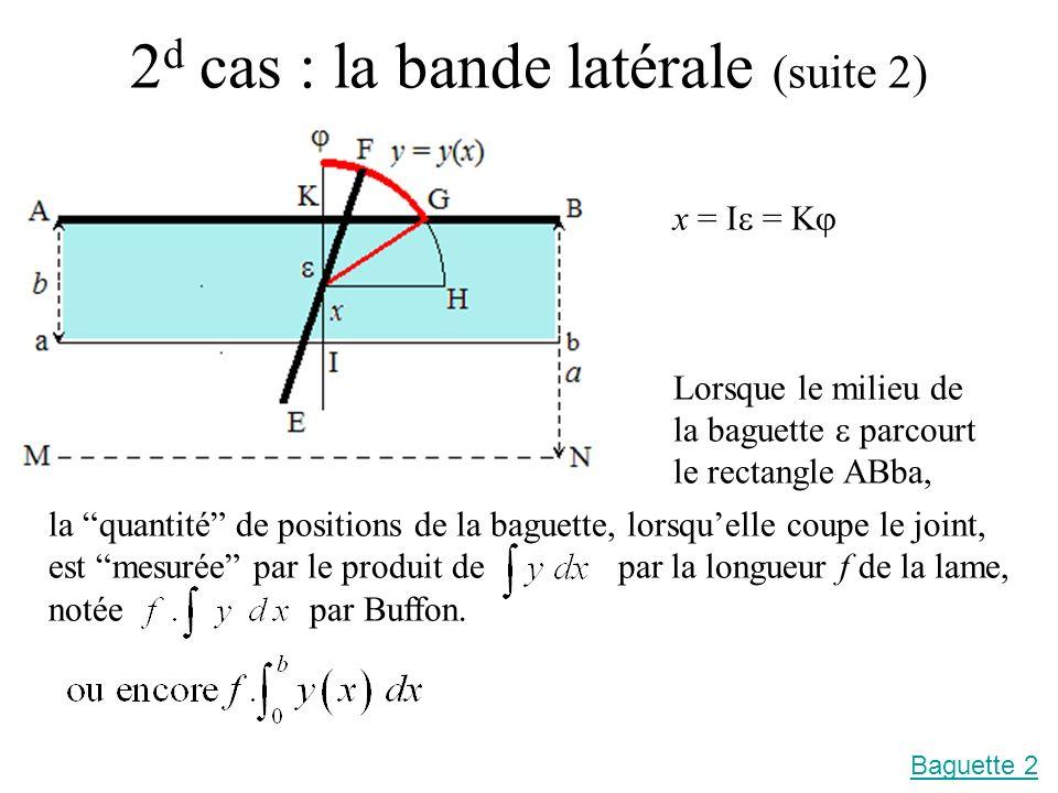 2d cas : la bande latérale (suite 2)